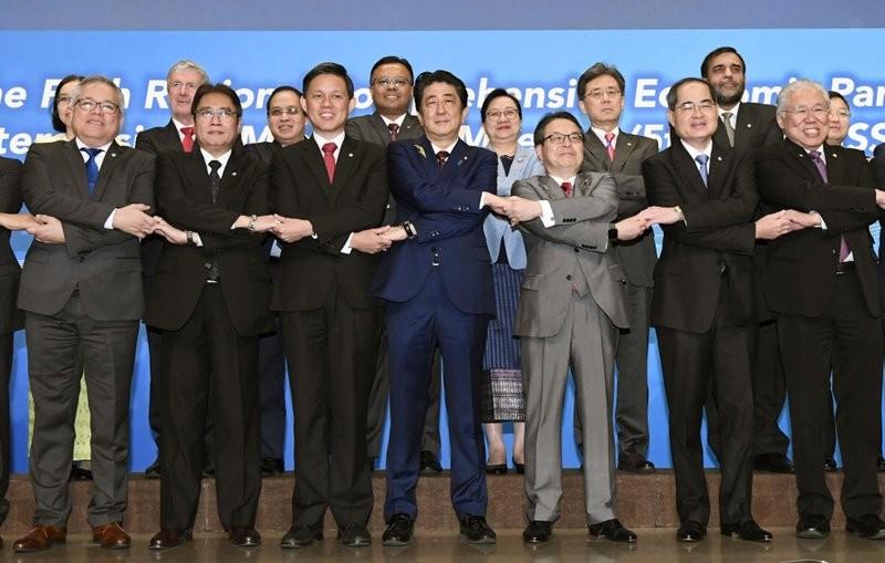 區域全面經濟夥伴關係協定部長級會議1日在東京登場(美聯社)