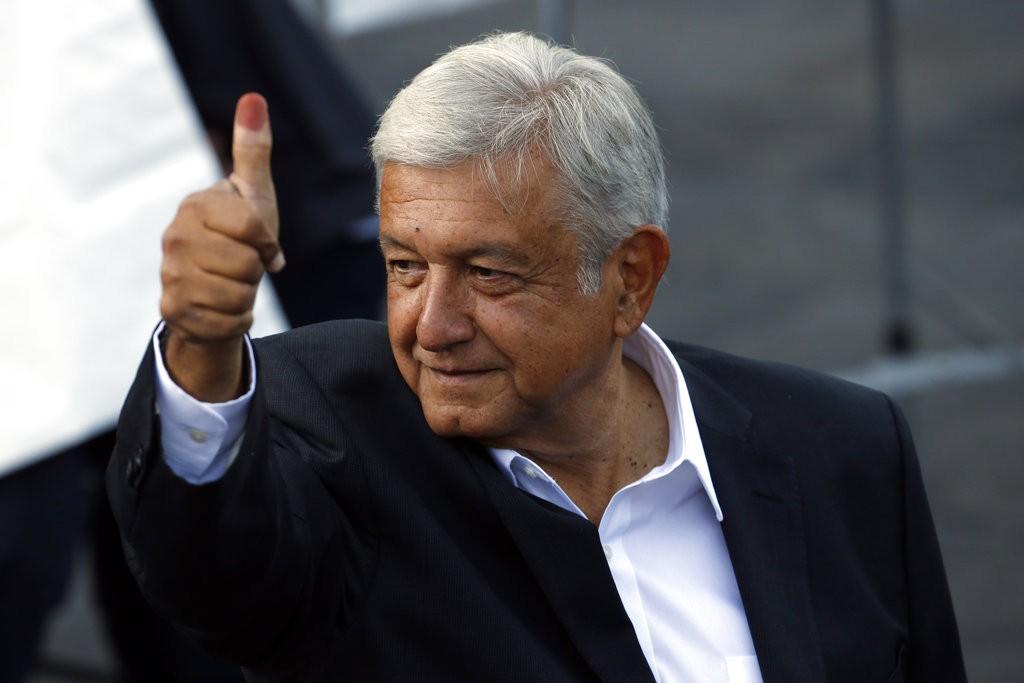 墨西哥總統候選人洛佩斯·奧布拉多爾(López Obrador)確定當選(美聯社)
