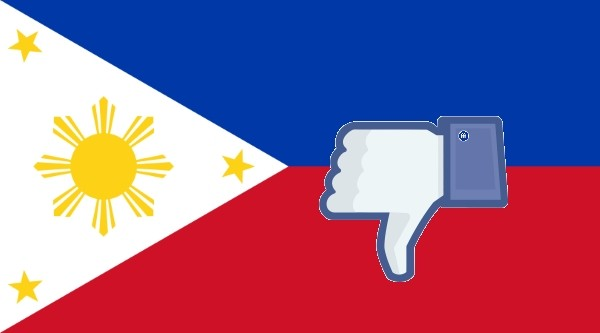 Philippine flag and dislike button.