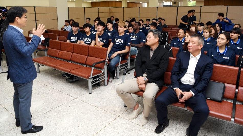南韓籃球代表團,在今(2018年7月3)日,赴北韓參訪(翻攝自南韓統一部網站)