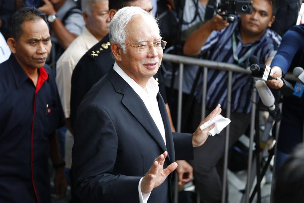 馬來西亞前總理納吉(資料照,美聯社提供)