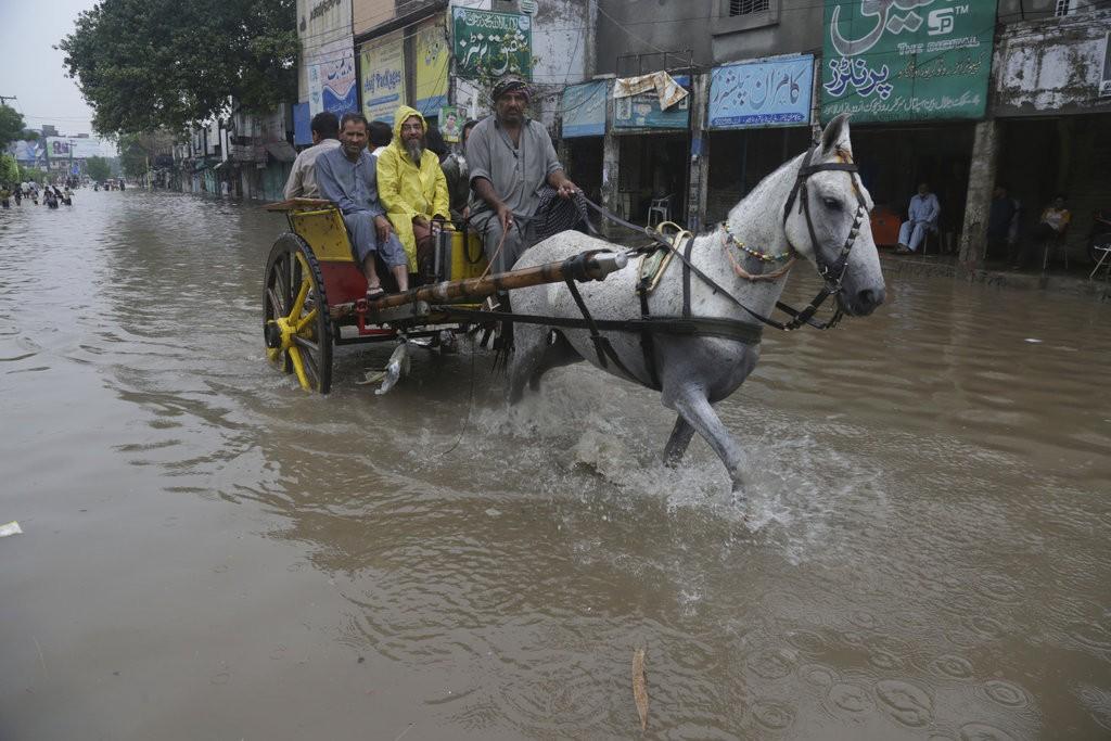 巴基斯坦暴雨(美聯社)