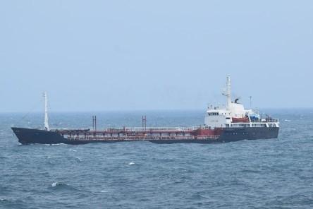 北韓船隻安山一號(日本外務省提供)