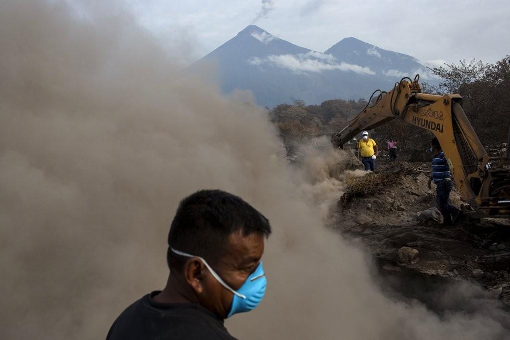 瓜地馬拉火山爆發後資料照(美聯社提供)