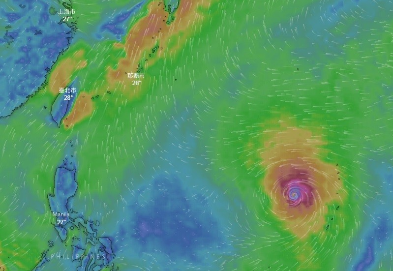 Typhoon Maria could lash northern Taiwan by Wednesday