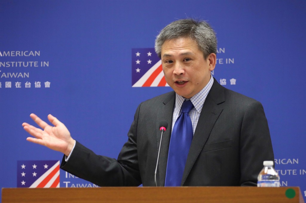 美國在臺協會6日舉辦臺北辦事處長梅健華(Kin Moy)告別記者會