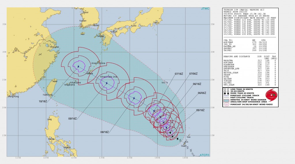 Typhoon Maria strengthens to category 5, could impact Taiwan July 10