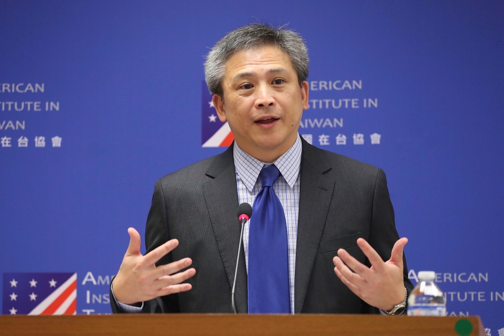 AIT Director Kin Moy at his farewell press conference on July 6