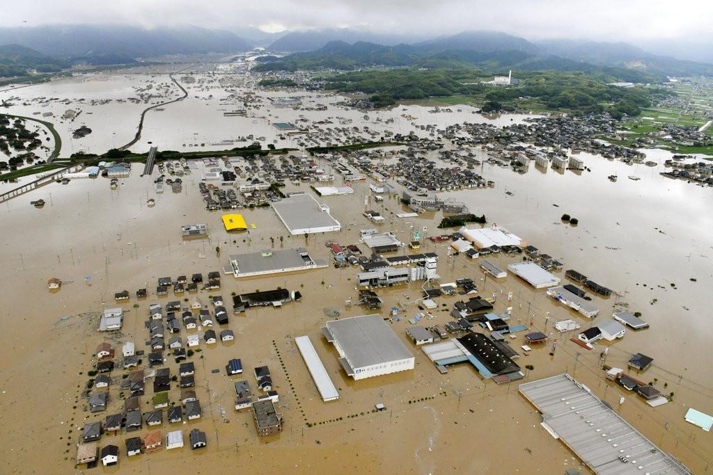 日本關西地區連日豪雨已造成嚴重災情(照片來源:美聯社提供)