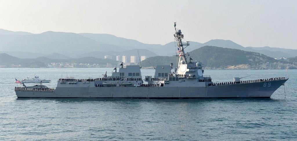 美軍軍艦USS Mustin(DDG-89)示意圖(照片來源:維基百科)