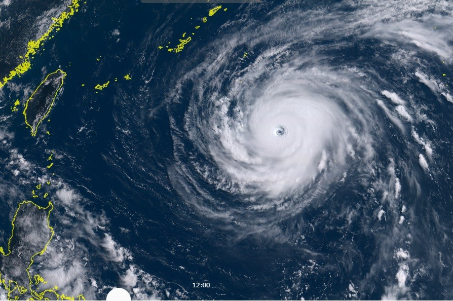 Update: Super Typhoon Maria poised to pounce on Taiwan Tuesday