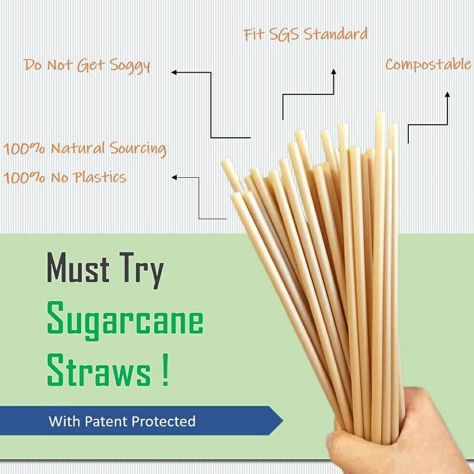 Taiwanese entrepreneurs patent sugarcane straws