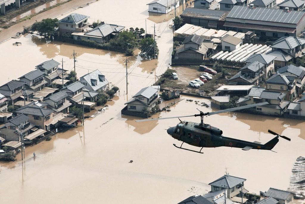 日本西部上週連日豪雨傳出嚴重災情(照片來源:美聯社提供)