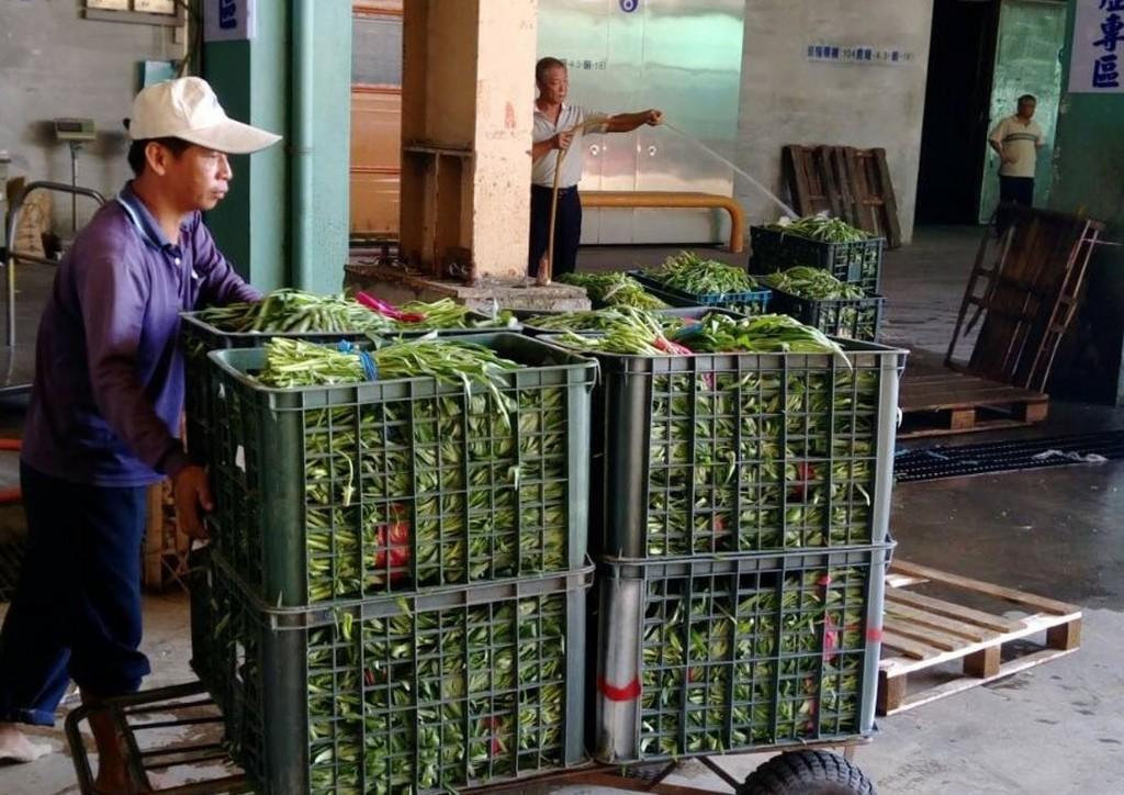 強烈颱風瑪莉亞朝台灣來,高雄果菜批發市場的到貨量減少、價格揚升