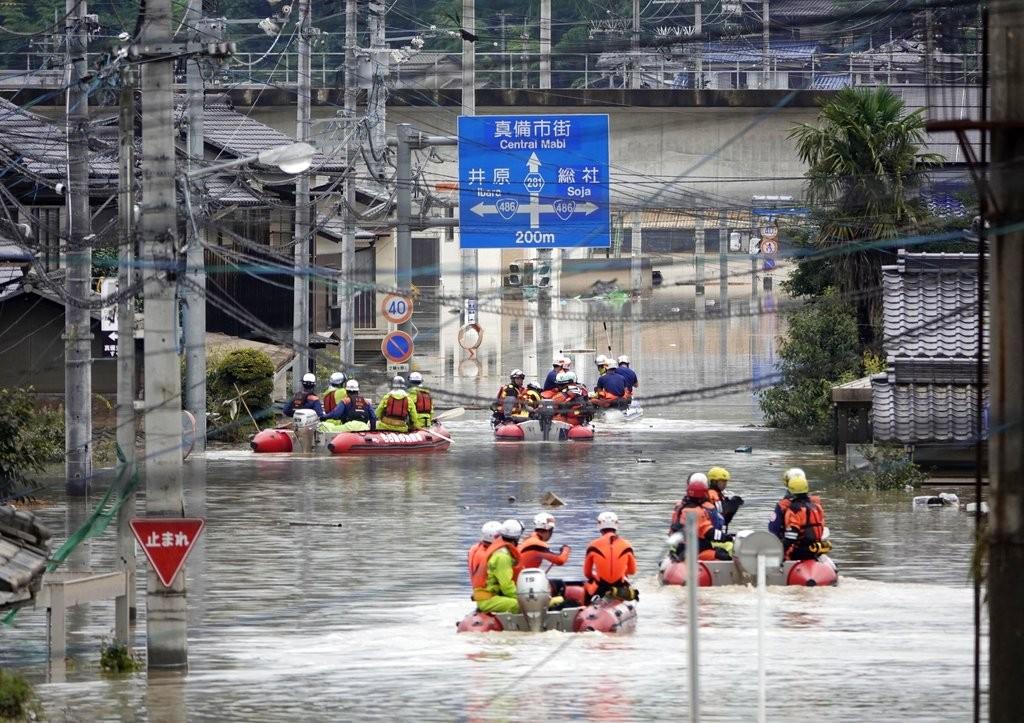 日本上週連日豪雨導致災情慘重(照片來源:美聯社提供)