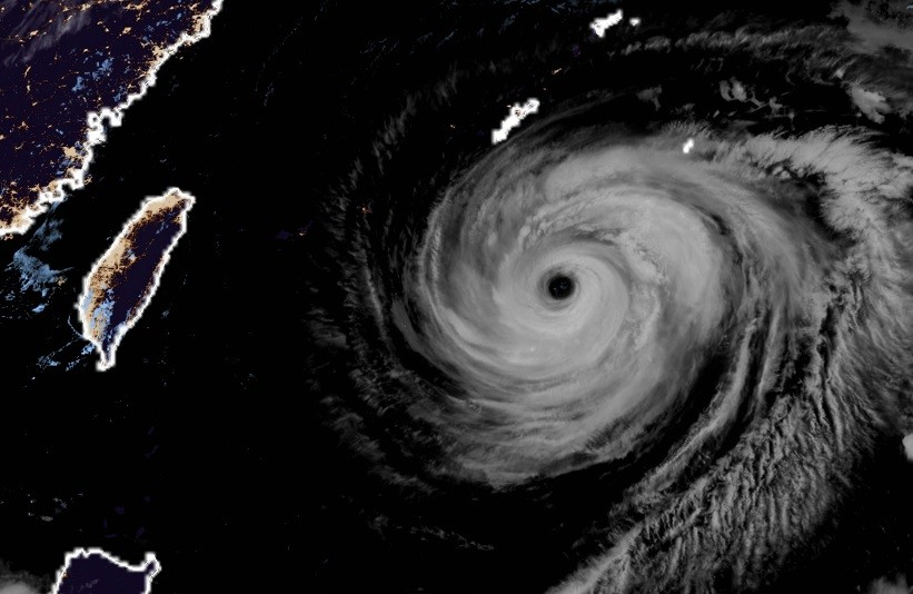 Image from Himawari-8 satellite. (Japan Meteorological Agency)