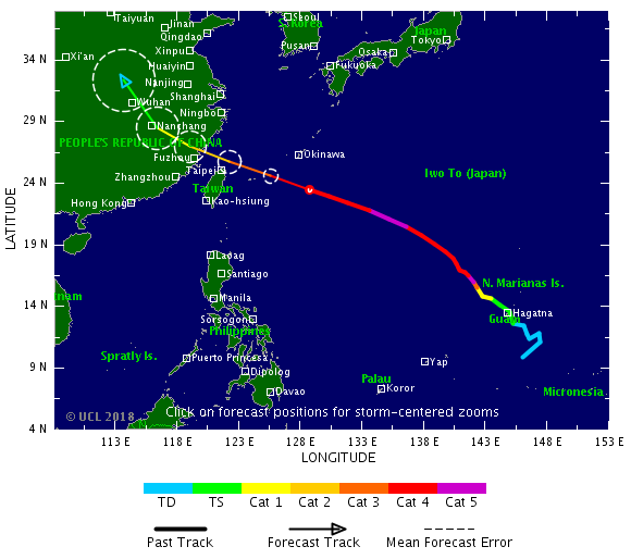 Taiwan braces for impact with Super Typhoon Maria at 5 p.m.