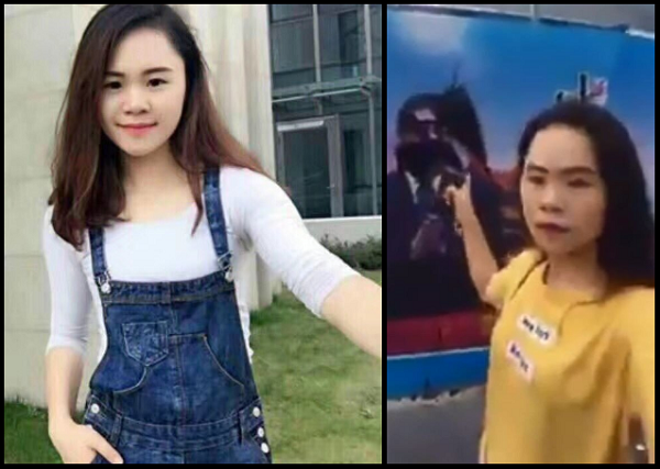 Dong Yaoqiong, the 'Ink Girl' (Images from Twitter)