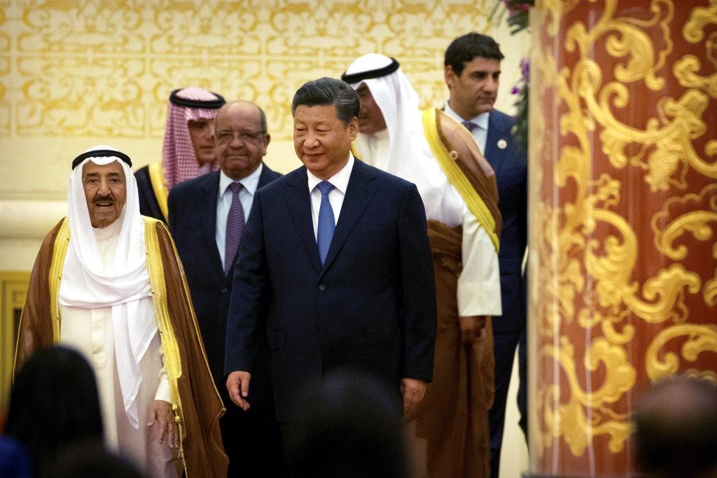 習近平與阿拉伯國家領袖(美聯社)