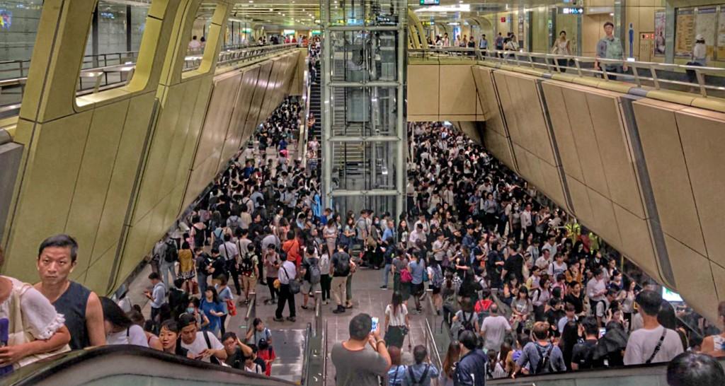 Taipei's Nanjing Fuxing MRT station.