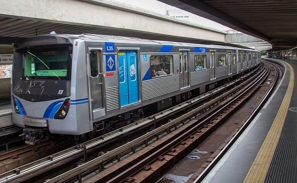 A metro train built by Alstom in São Paulo Brazil. Photo: May, 2017