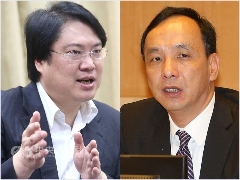 Keelung Mayor Lin Yu-chang (left); New Taipei Mayor Eric Chu (right)   (CNA file photo)