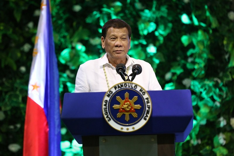 Philippine President Rodrigo Duterte at National Micro, Small, and Medium Enterprise Summit 2018 (Photo by Presidential Communications Operations Offi