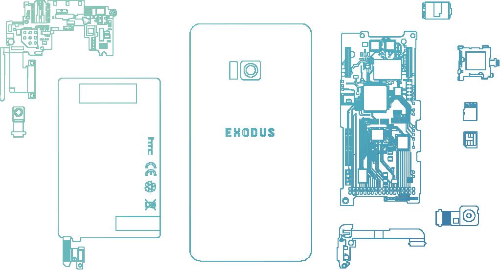 HTC Exodus blueprint. (Image courtesy of HTC)