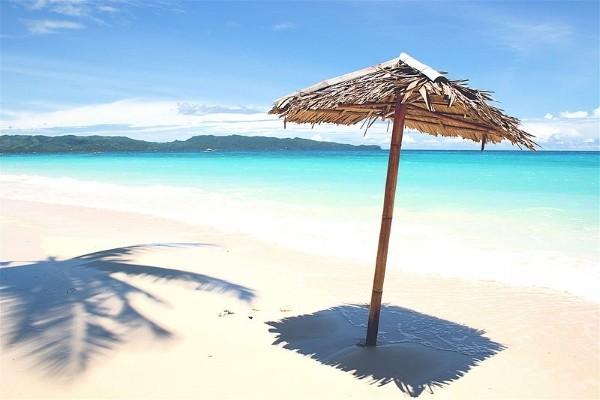 Boracay white sand beach.