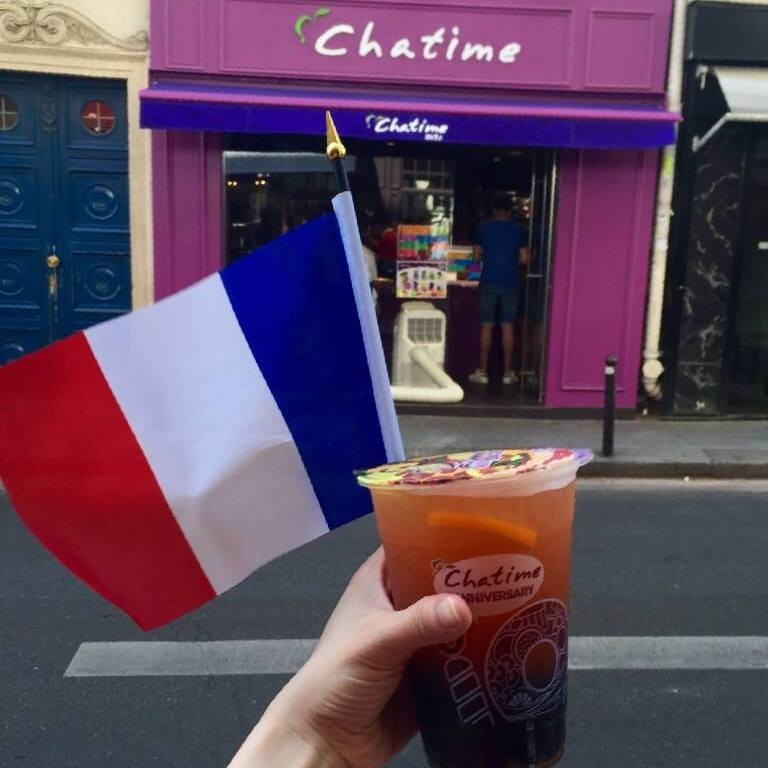 Chatime in Paris. (Image courtesy of Chatime Paris Facebook page)