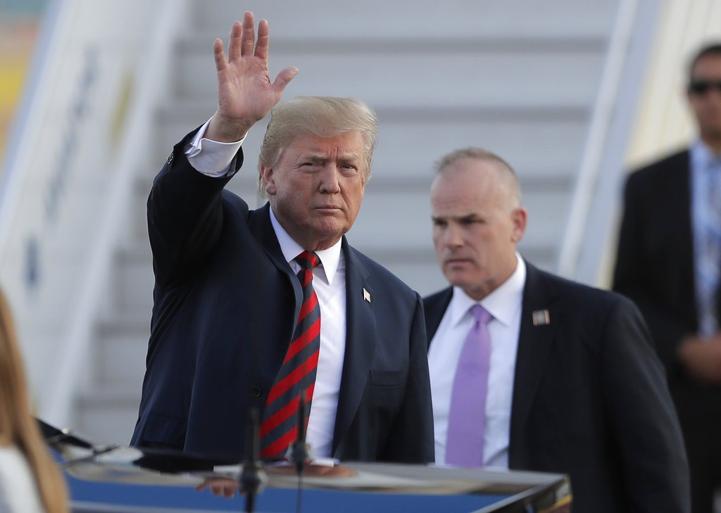 Donald Trump waving, July 15.
