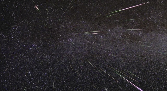 Perseid meteor shower (Image from NASA)