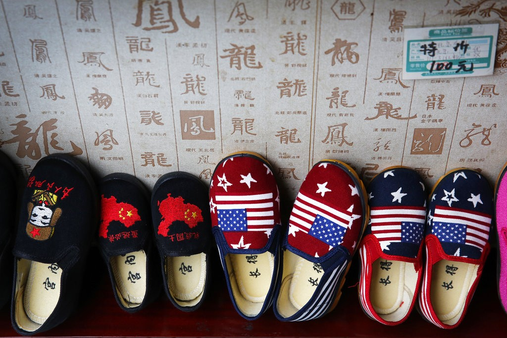 Slippers for sale in Beijing, China.