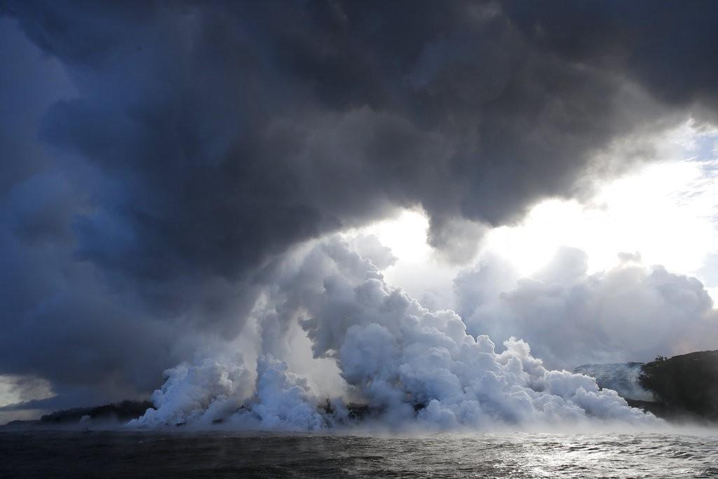 夏威夷基拉韋亞火山爆發資料照(美聯社)