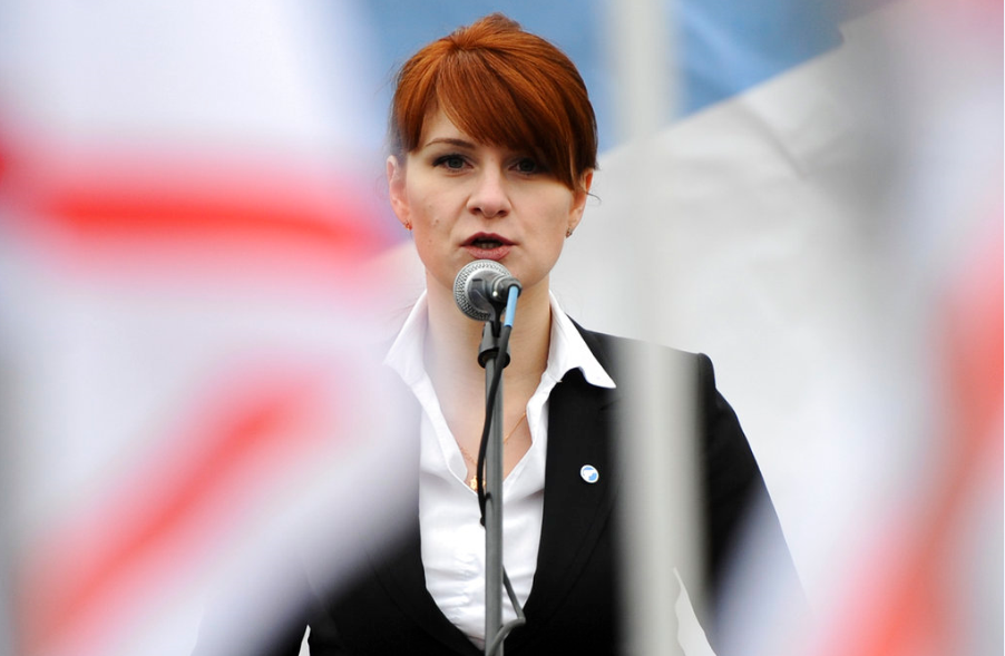 遭控從事間諜行爲的俄羅斯籍女性布緹那(Maria Butina)(美聯社)