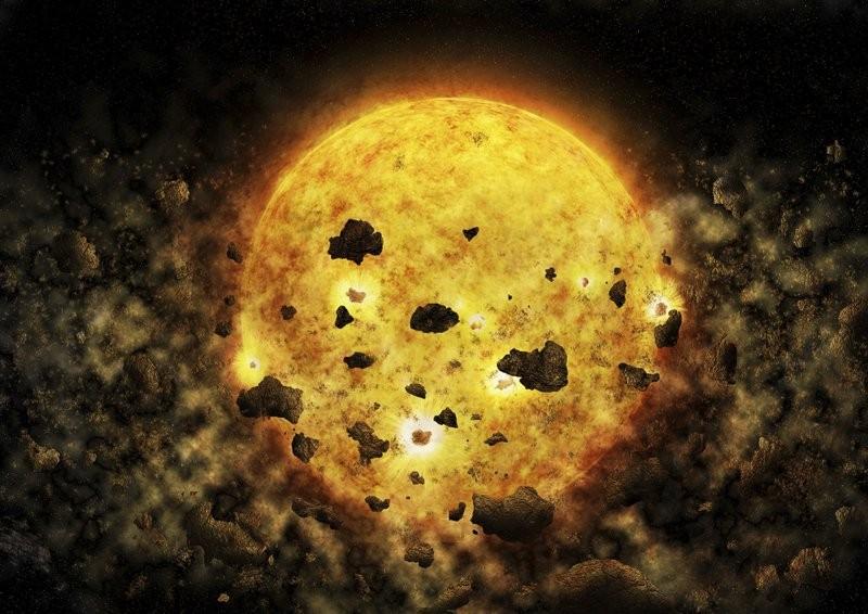 NASA捕捉到罕見的恆星吞行星畫面(圖/美聯社)