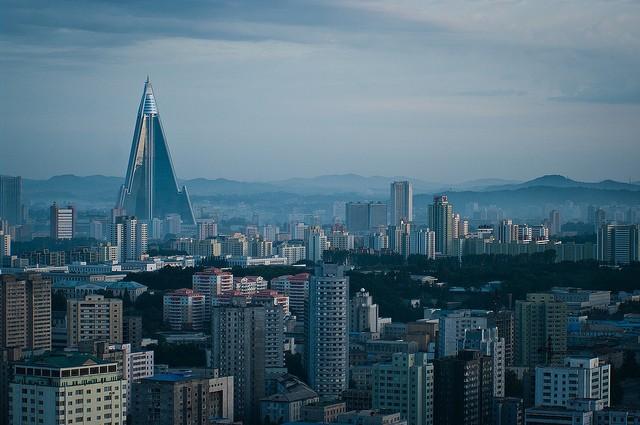 Pyongyang skyline. (Flickr user: Jen Morgan)
