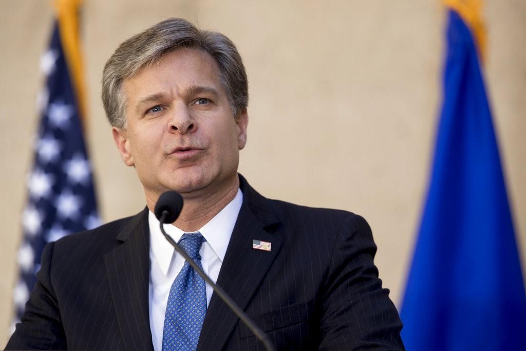 美國FBI局長克里斯多福·瑞伊(Chris Wray )(美聯社)