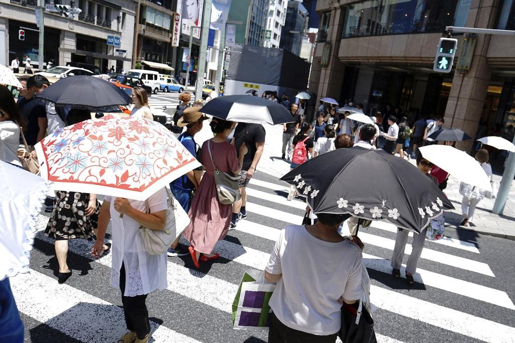 日本酷暑示意圖(美聯社)