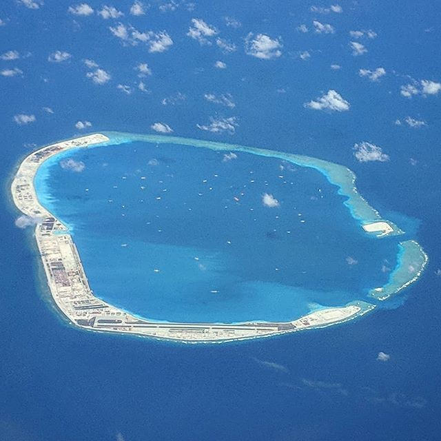 Chinese-controlled Mischief Reef in Philippines' exclusive economic zone.