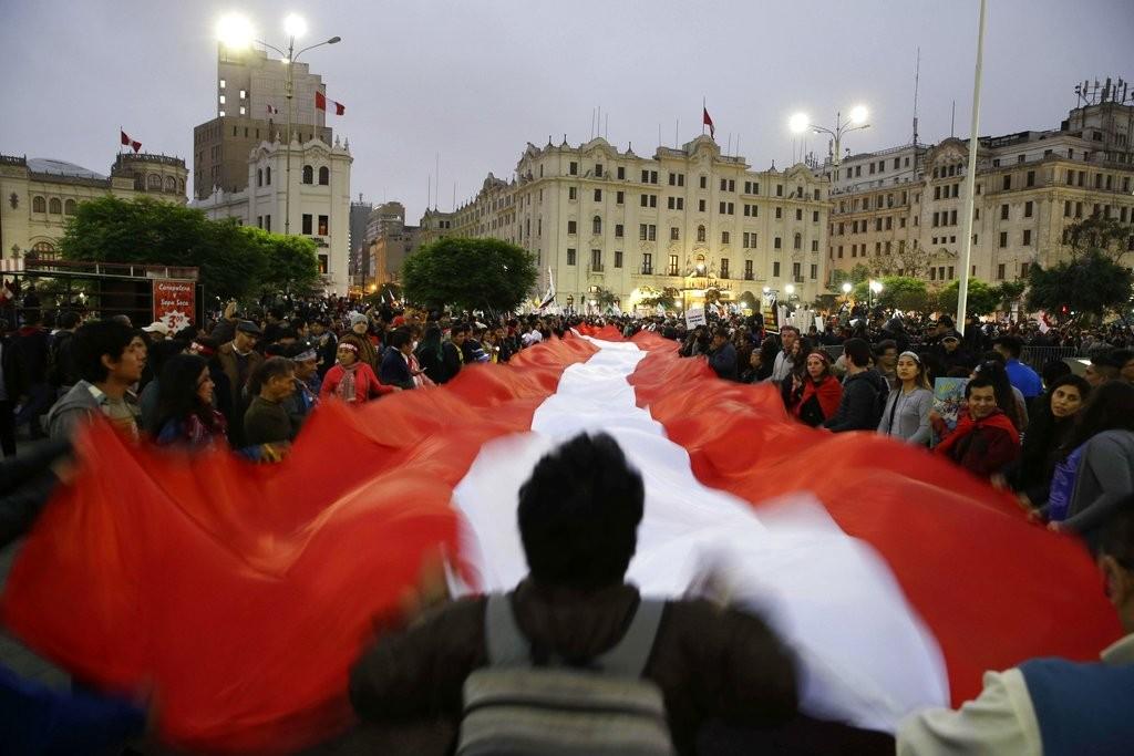 秘魯民衆抗議司法貪腐(美聯社)