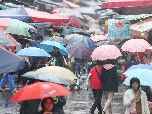 Heavy rain in Taiwan.
