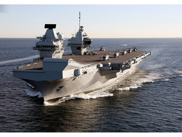 HMS Queen Elizabeth. (Flickr user: InfoGibraltar)