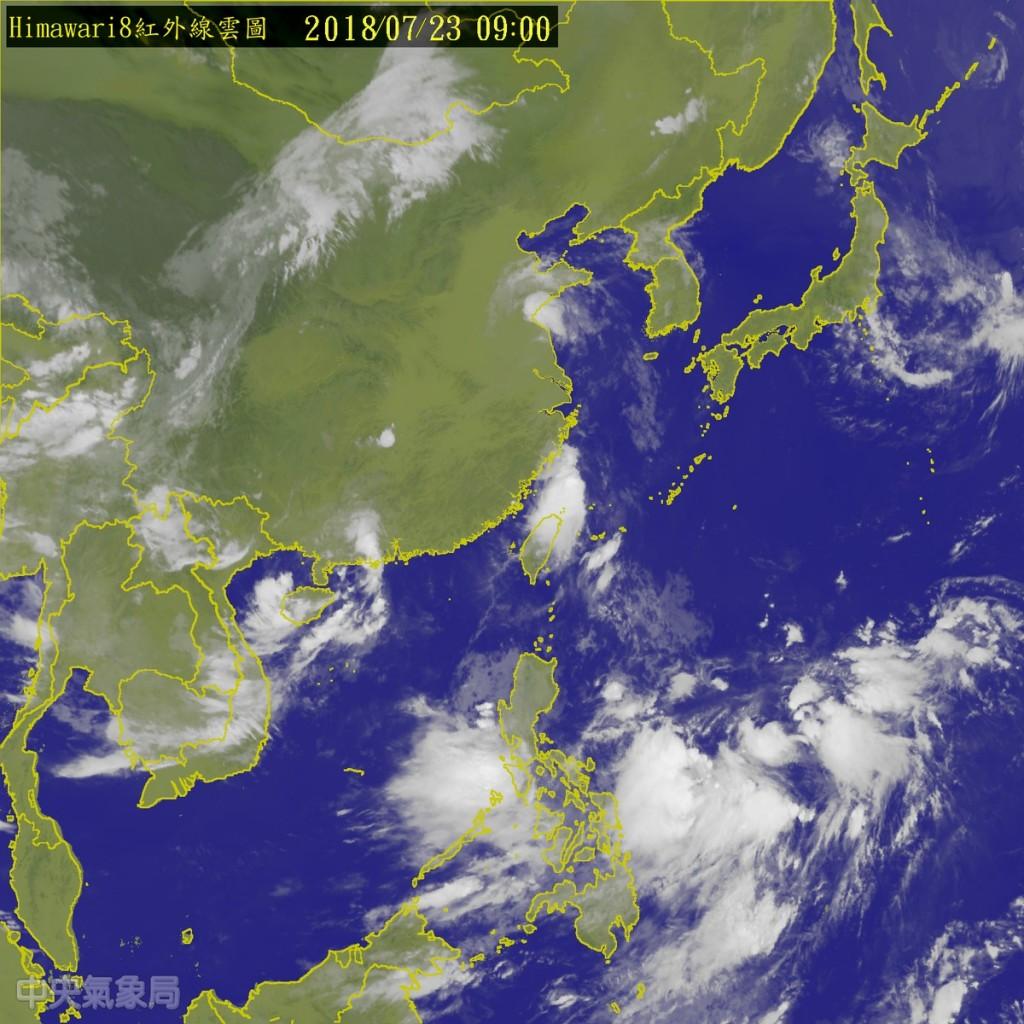 圖片擷取自中央氣象局官網。