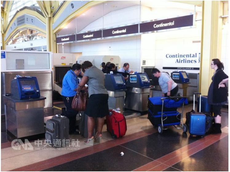 機場安檢示意圖(圖片截取中央社)