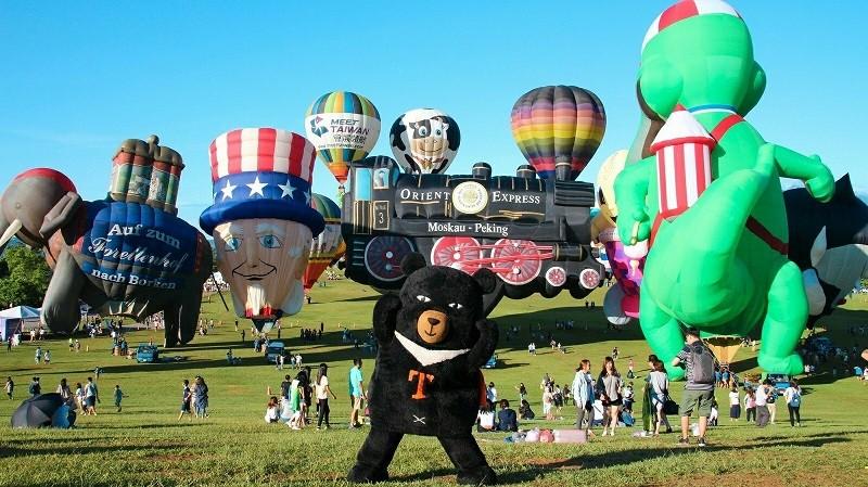 喔熊造型熱氣球 即將現身鹿野高台