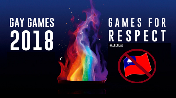 China is trying to ban the Taiwanese flag from the Gay Games in Paris