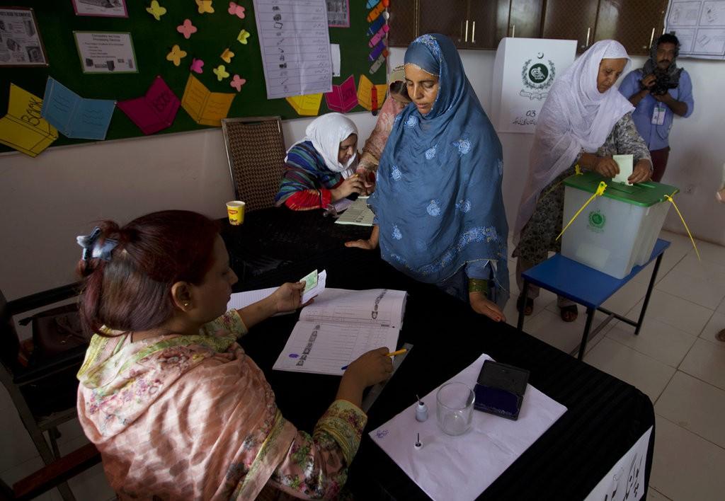 巴基斯坦正在進行選舉(美聯社)