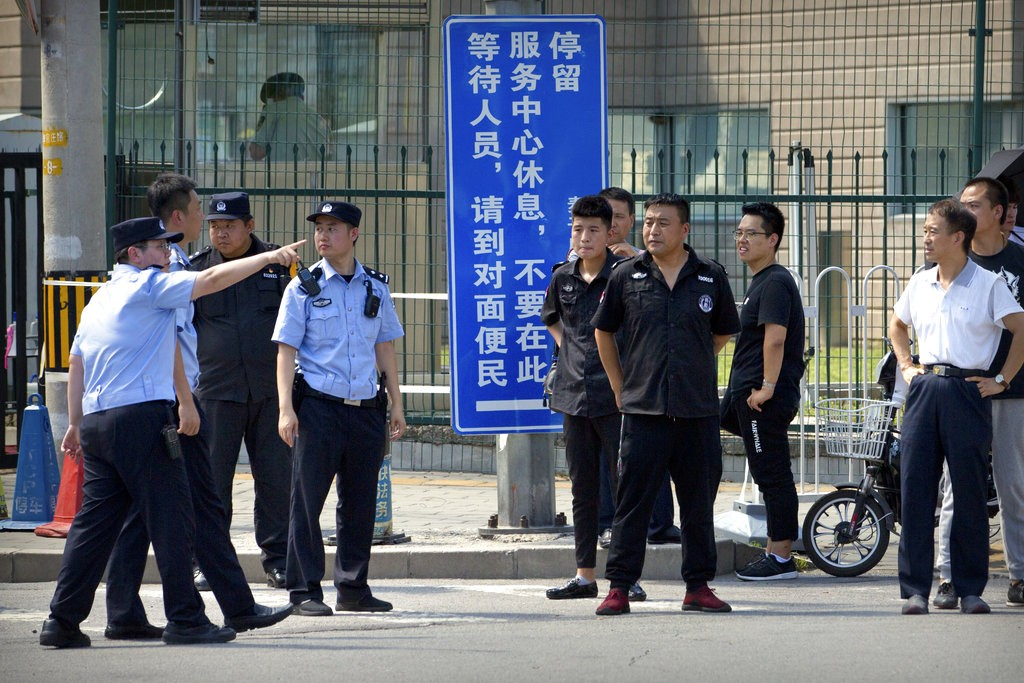 Suspected self-immolation at US Embassy in Beijing