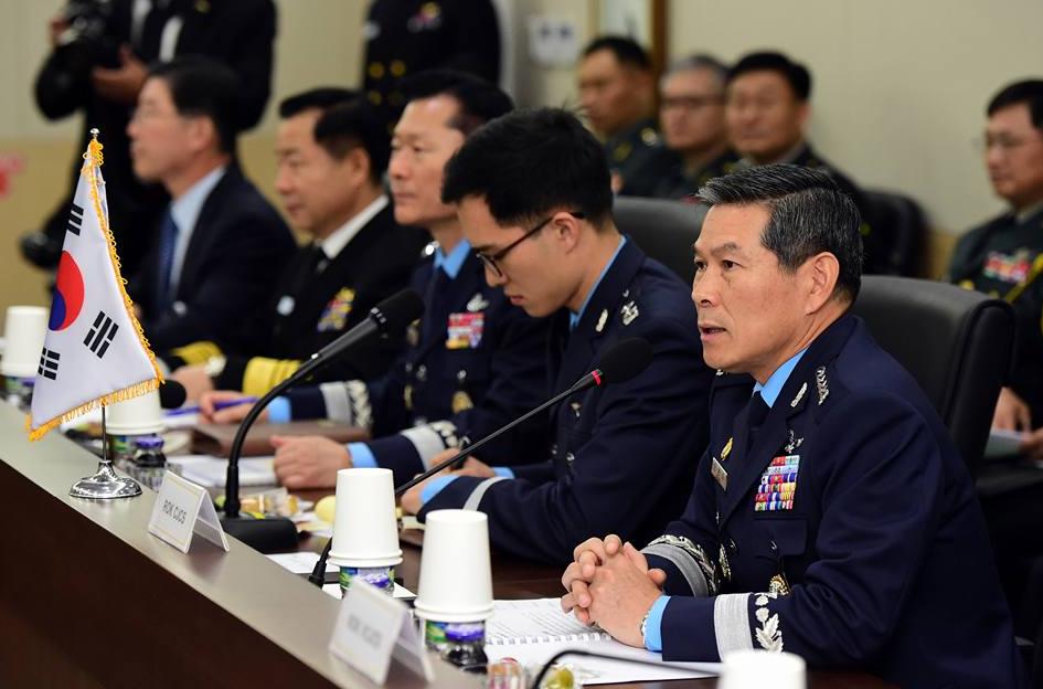 南韓高階軍人示意圖(翻攝自南韓聯合參謀本部臉書)